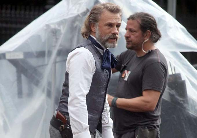 First Look At Christoph Waltz On The Set Of Django Unchained