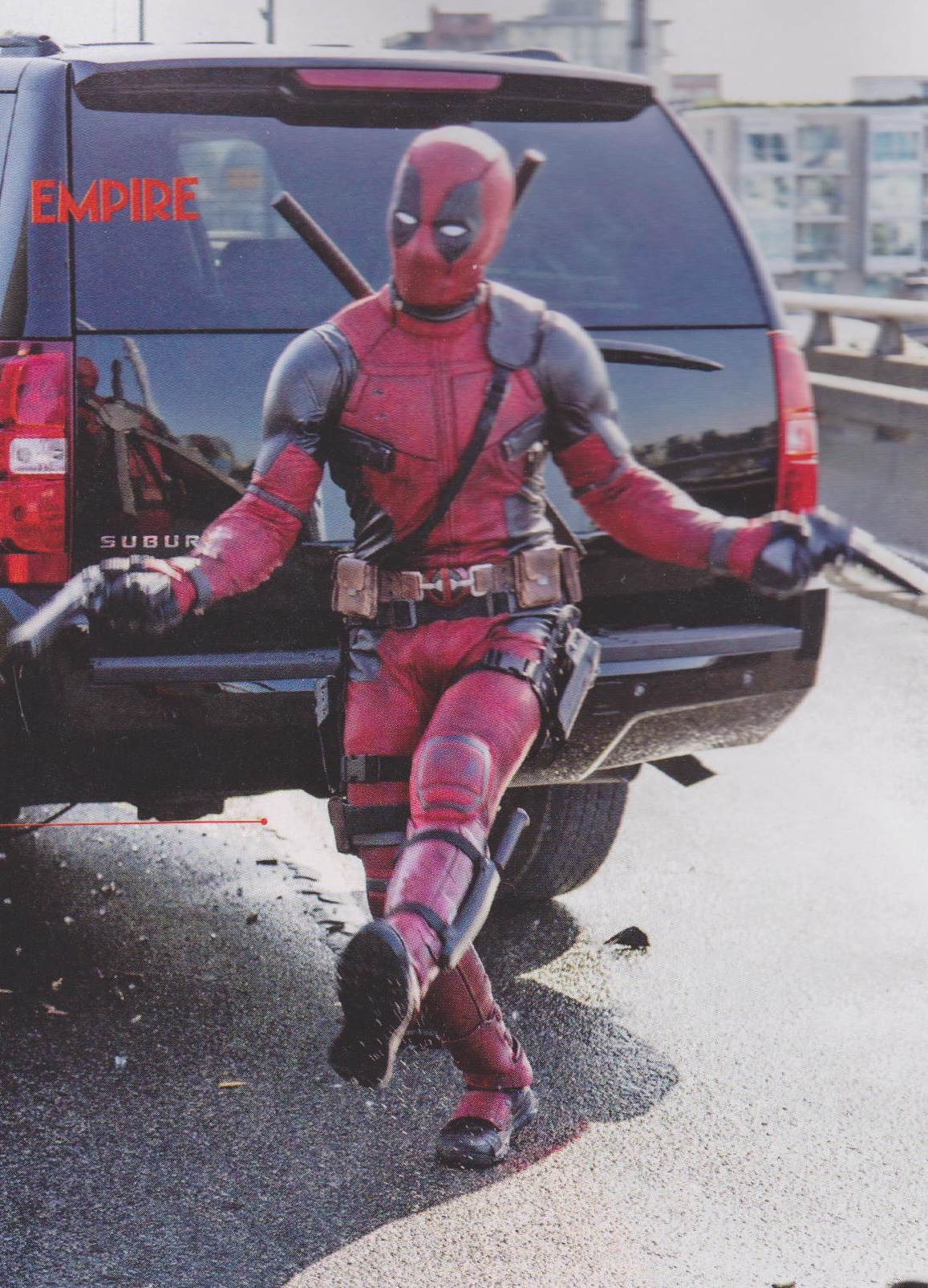 Ryan Reynolds Suits Up In New Batch Of Images From Deadpool