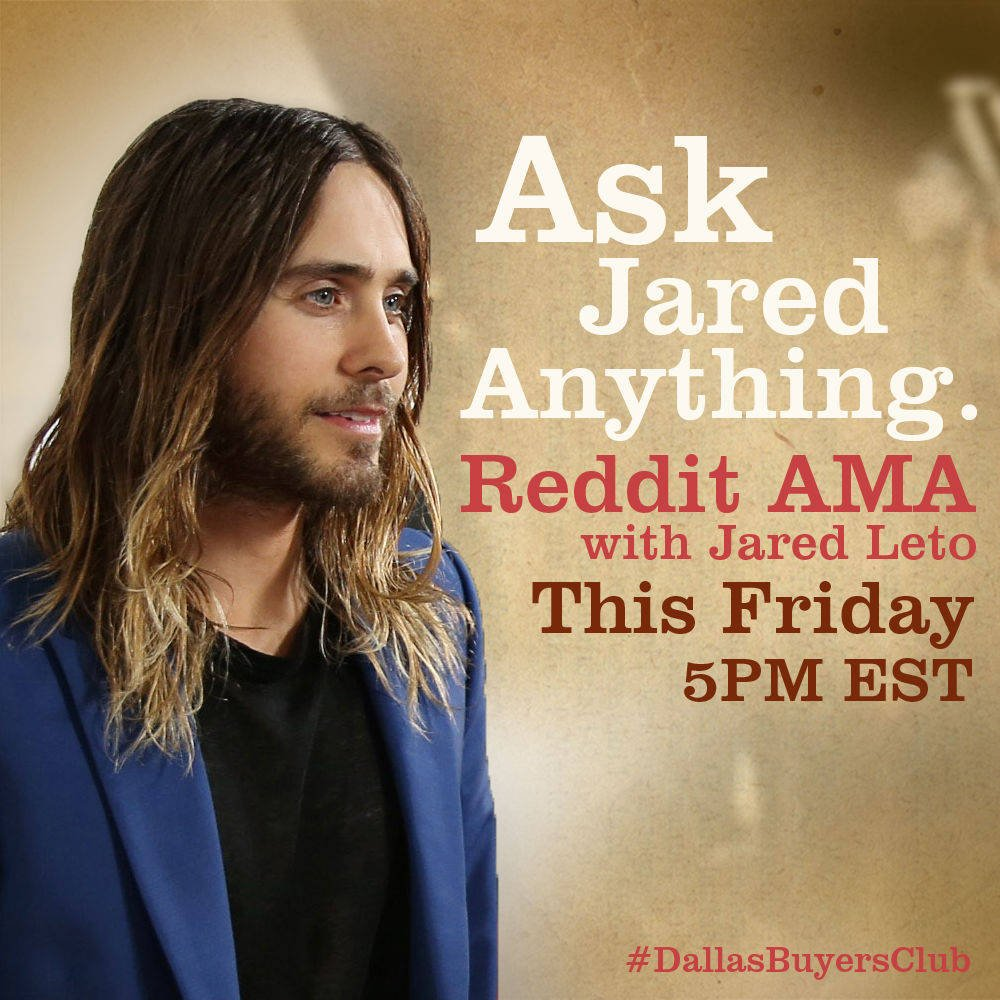 Ask Jared Leto Anything On Reddit This Friday