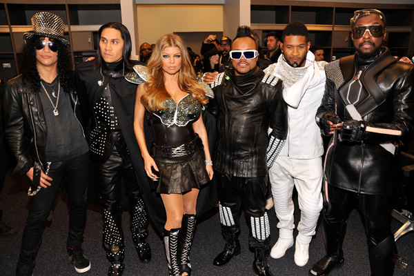 The Black Eyed Peas And Usher Perform At Super Bowl XLV
