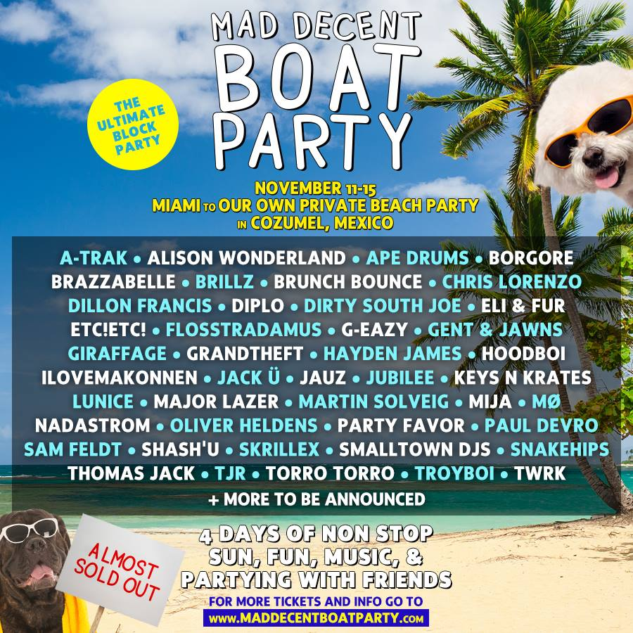 Jack Ü Will Headline Mad Decent Boat Party 2015