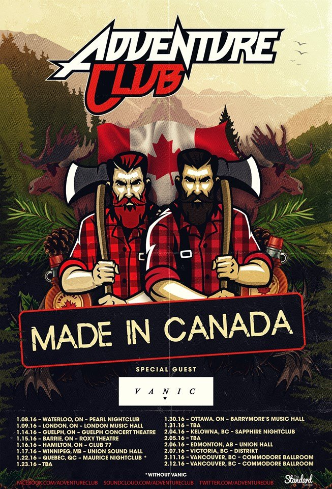Vanic To Accompany Adventure Club On Made In Canada Tour