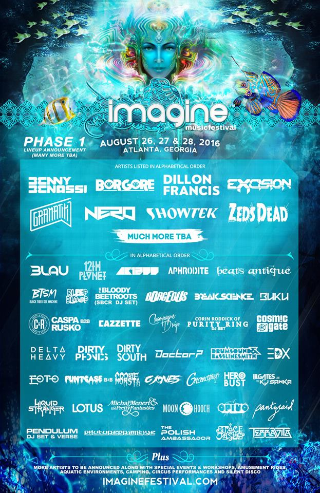 Imagine Festival 2016 Announces Phase 1 Lineup An Hour Early
