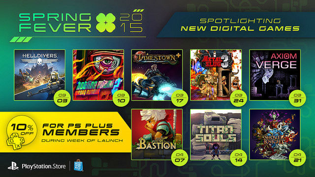 PlayStation Spring Fever Sale Returns For 2015 With Deals On Several Anticipated Titles