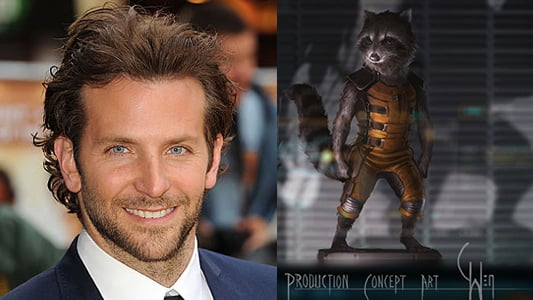 Bradley Cooper Will Voice Rocket Raccoon For Guardians Of The Galaxy