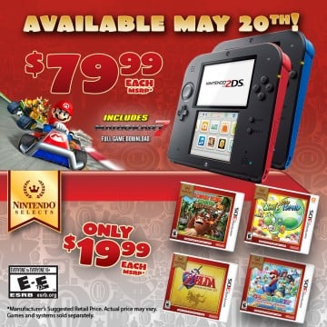 A Price Cut For The Nintendo 2DS Is On The Way; New Games Announced