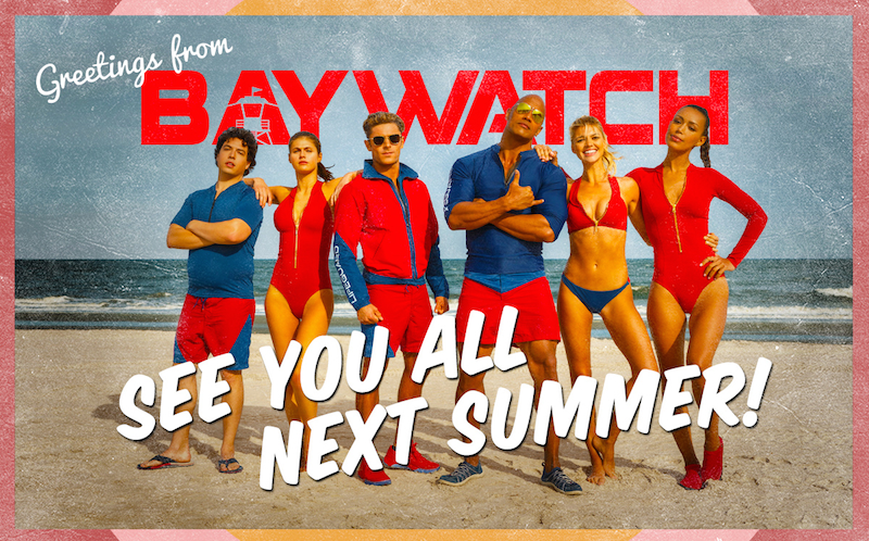 Baywatch Cast Wraps Production, But Not Without Striking One Final Action Pose