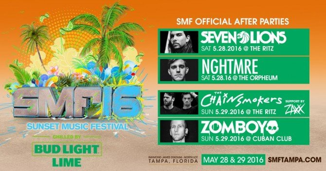 The Chainsmokers, NGHTMRE And Seven Lions To Host SMF After Parties