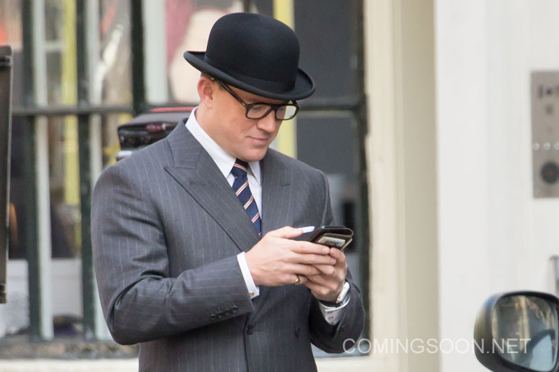 Channing Tatum Looks Dapper In Kingsman: The Golden Circle Set Photos