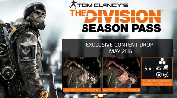 Ubisoft Details The Division's Season Pass Content Drop For May