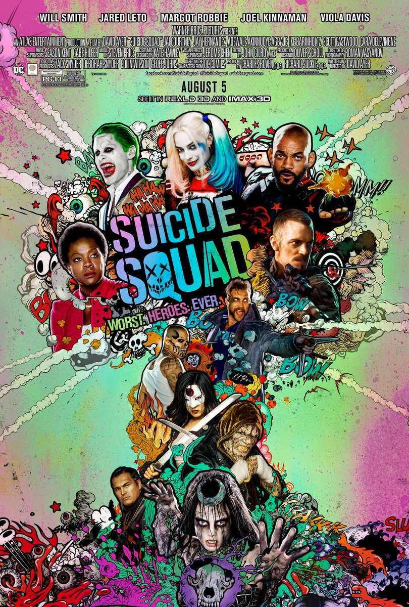 Meet The Worst Heroes Ever On This New Suicide Squad Poster