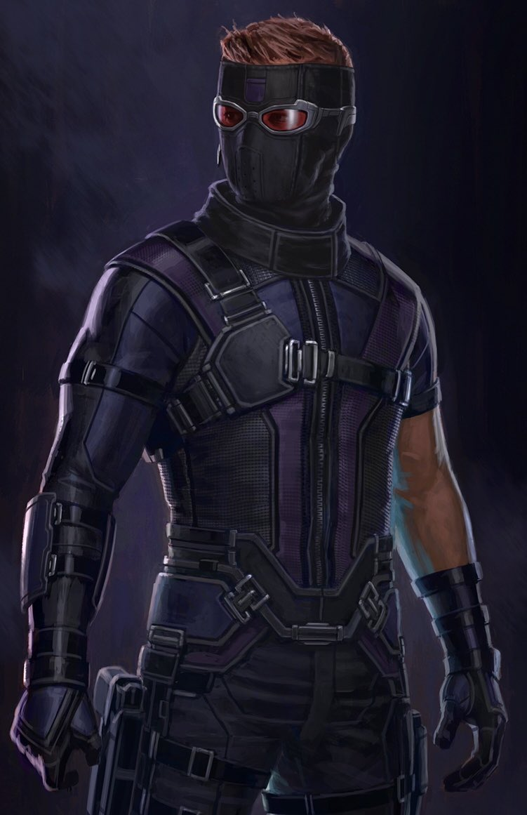 Jeremy Renner's Hawkeye Finally Gets A Mask In Captain America: Civil War Concept Art