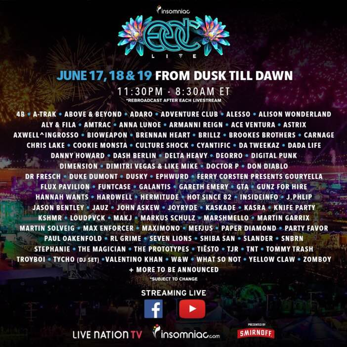 Live Stream Electric Daisy Carnival Las Vegas Right Here