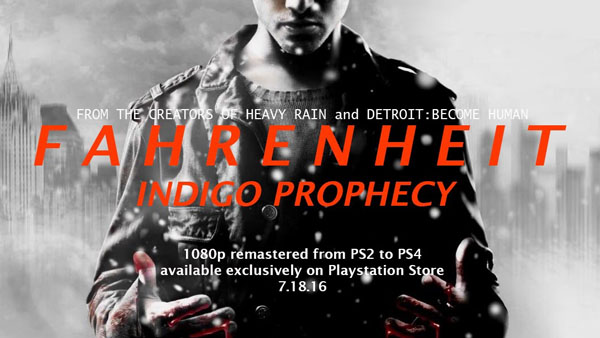 Quantic Dream's Indigo Prophecy Heads To PlayStation 4 Next Month