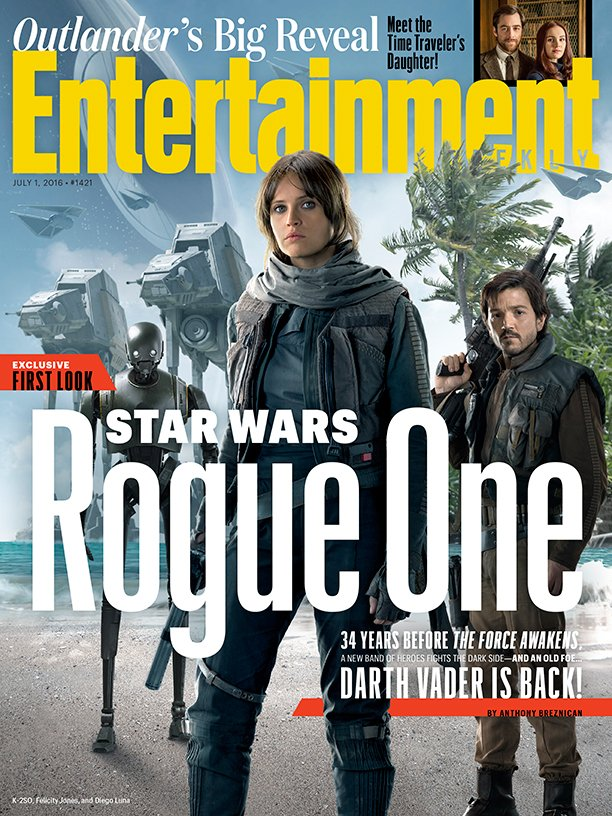 Rogue One: A Star Wars Story Adorns EW Cover, Darth Vader Confirmed To Return