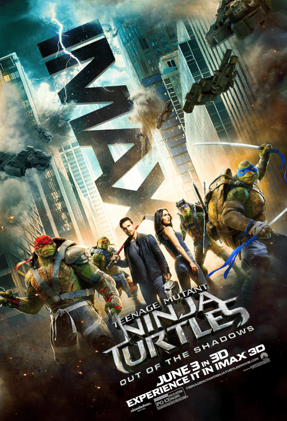 Teenage Mutant Ninja Turtles: Out Of The Shadows Gets A Cool New IMAX Poster