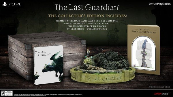 Swanky Collector's Edition For The Last Guardian Appears On Amazon