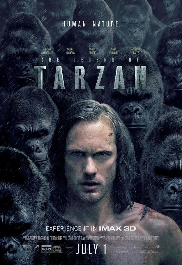 Alexander Skarsgård Stands Tall As The King Of The Apes In The Legend Of Tarzan IMAX Poster