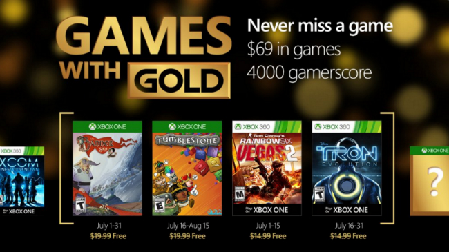The Banner Saga 2 And Tumblestone Among July's Games With Gold Selection