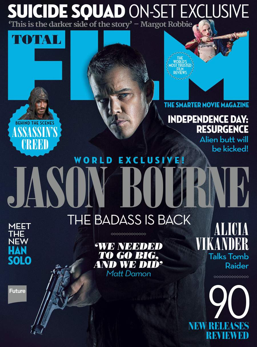 Jason Bourne Stands Tall On New Total Film Magazine Covers