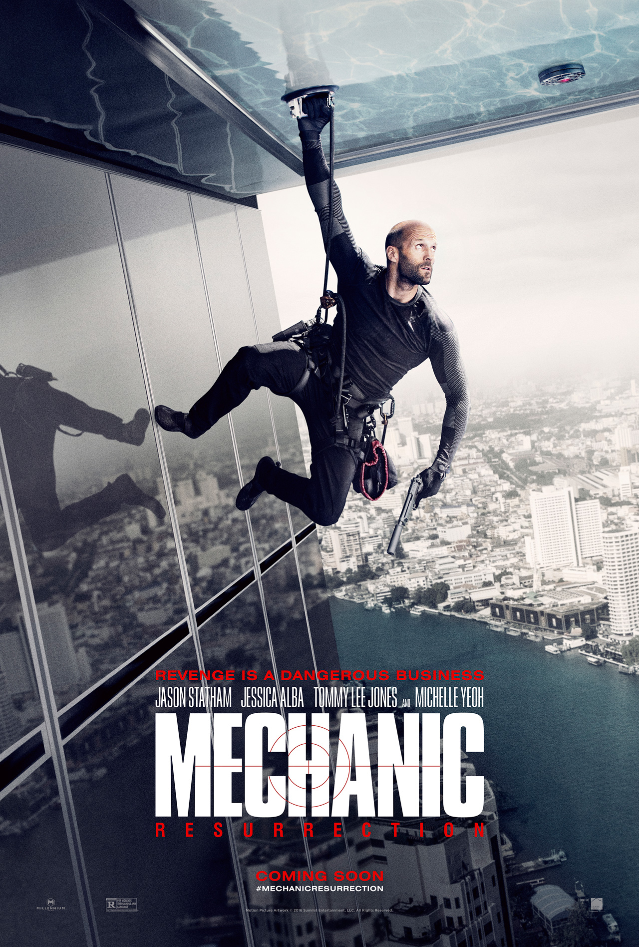 Jessica Alba And Jason Statham Engage In Fisticuffs In Latest Mechanic: Resurrection Clip