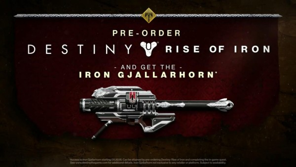 Destiny: Rise Of Iron Trailer Leaks Online, Pre-Order Bonus Opens Up The Iron Gjallarhorn
