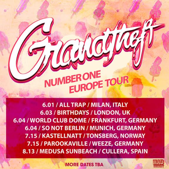 Grandtheft Reveals Seven Dates Of Number One European Tour