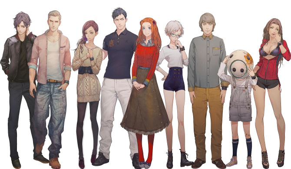 zero time dilemma characters
