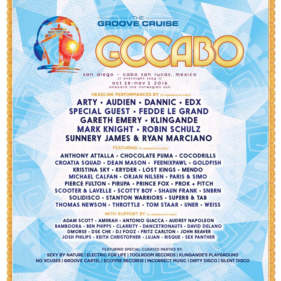 Groove Cruise Announces Lineup For First-Ever Cabo Sailing