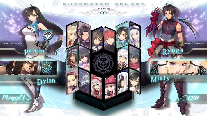 Blade Arcus character selection
