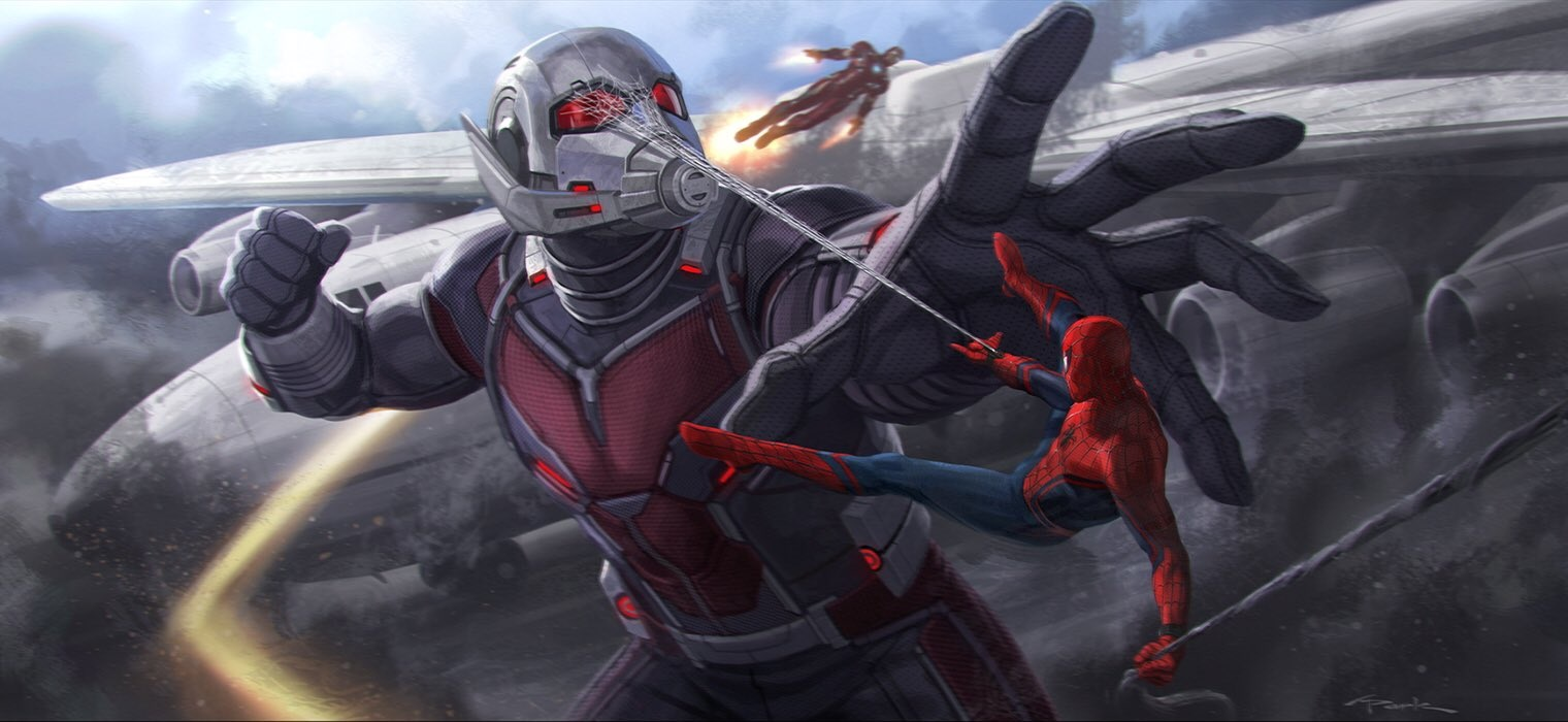Spider-Man Takes On Giant-Man In More Captain America: Civil War Concept Art