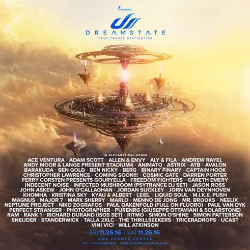 Dreamstate SoCal Announces Full 2016 Lineup