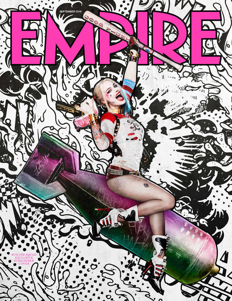 Suicide Squad: Harley Quinn Rides A Nuke In First Look At Empire's Subscriber Cover