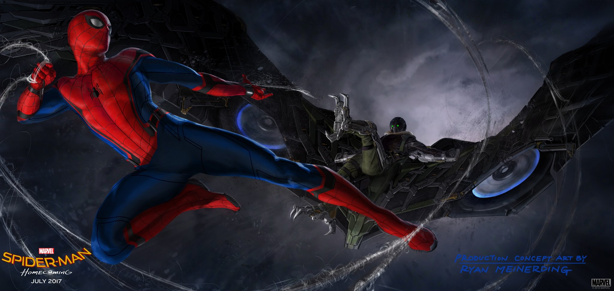 Peter Parker Battles The Vulture In New Spider-Man: Homecoming Concept Art