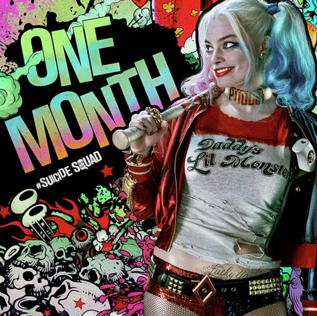 Harley Quinn Begins The One-Month Countdown In Latest Suicide Squad Poster