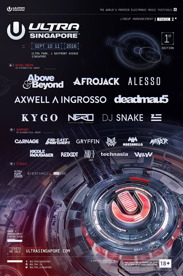 Check Out The Phase Two Lineup For Ultra Singapore