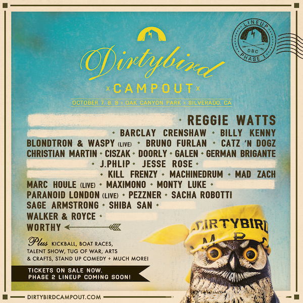 Dirtybird Campout Unveils Stacked Phase 1 Lineup