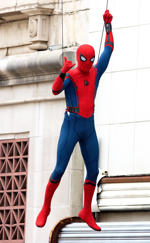 Tom Holland's Just Hanging Around In New Spider-Man: Homecoming Set Photos