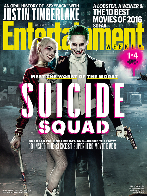 Suicide Squad Adorns Dynamic New Entertainment Weekly Covers