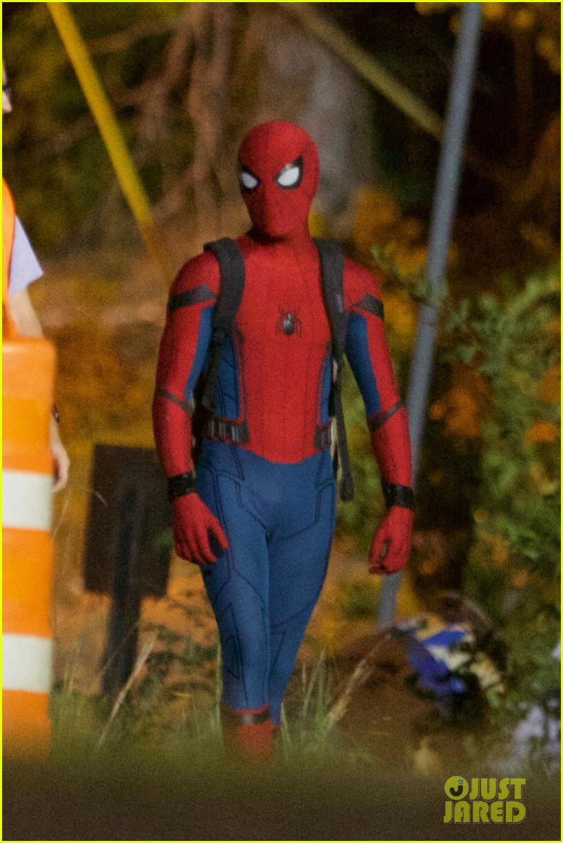 Spidey's Off To School In New Spider-Man: Homecoming Set Photos; Does Black Widow Have A Cameo?