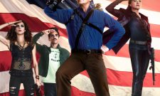 Bruce Campbell's Battle-Ready Hero Salutes The Stars And Stripes In Poster For Ash Vs. Evil Dead Season 2