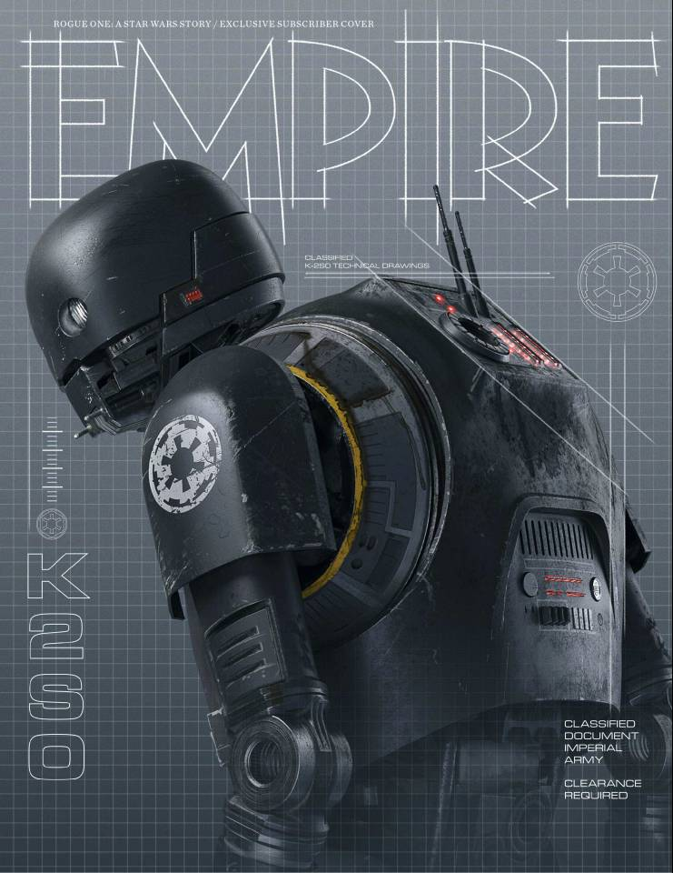 Empire's Rogue One Subscriber Cover Spotlights Alan Tudyk's Towering Droid