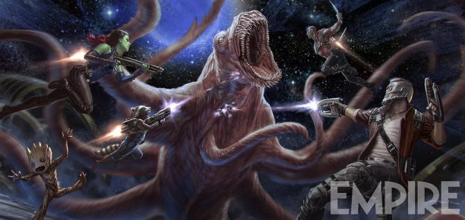 New Guardians Of The Galaxy Vol. 2 Concept Art Features A Tendrilled Beast