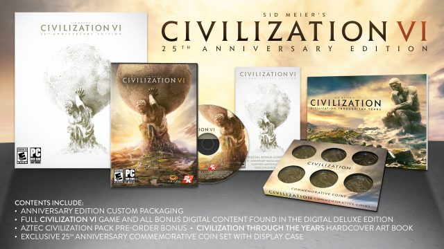 Firaxis Announces Civilization VI 25th Anniversary Edition; Just 20,000 Available Worldwide