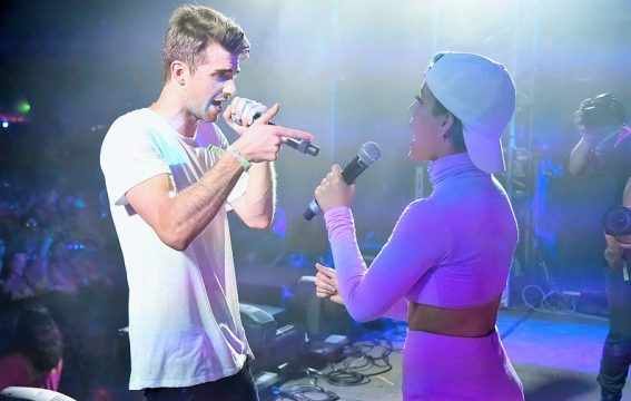 "Watch The Chainsmokers Perform ""Closer"" With Halsey At MTV's VMAs"