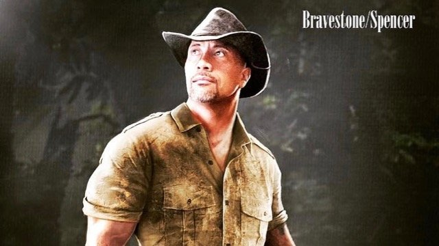 "Jumanji Sequel Unveils First Concept Art Of Dwayne Johnson's ""Smoldering Dr. Bravestone"""