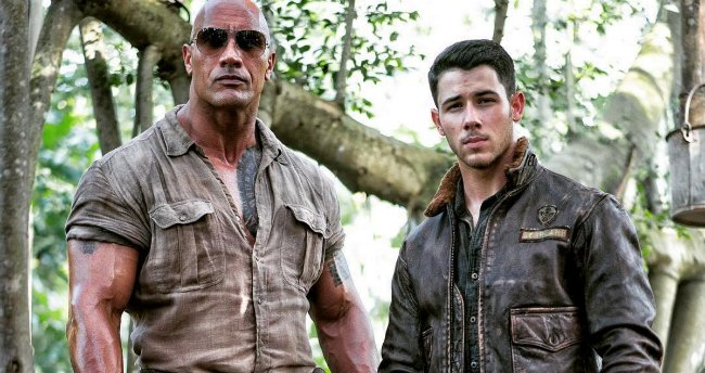Nick Jonas Enters The Fray In Latest Jumanji Pic