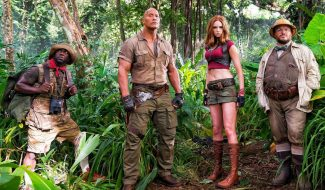 Dwayne Johnson, Karen Gillan And Co. Are Suited And Booted In First Jumanji Set Pic