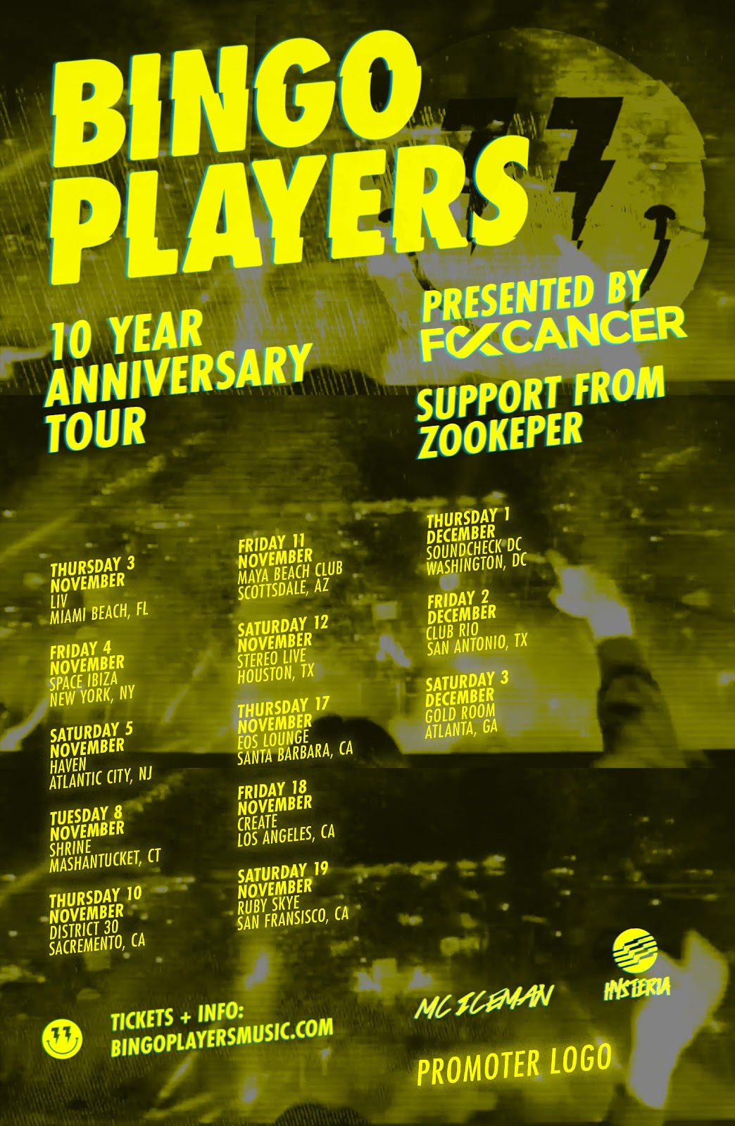 Bingo Players Announces 10 Year Anniversary Tour