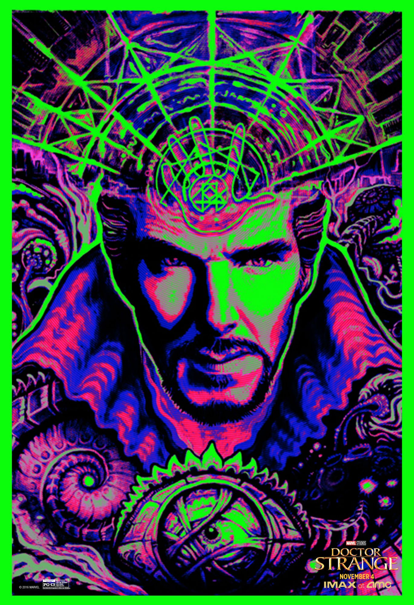Things Get Trippy In International Doctor Strange Trailer, Blacklight Poster Surfaces